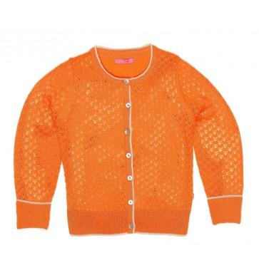 Le Big fel ajour vestje in de kleur oranje