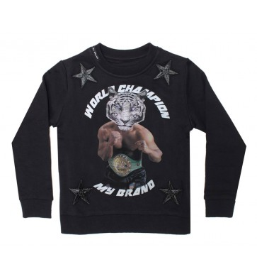 My Brand sweater trui champion tiger in de kleur black zwart