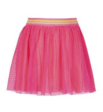 Le Big rok met gaas laagje in de kleur roze