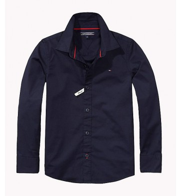 Tommy Hilfiger stretch blouse in de kleur donkerblauw