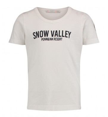 Penn & Ink t-shirt 'Snow valley' in de kleur grijs