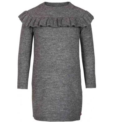 Le Big jurk met roesels in de kleur grijs
