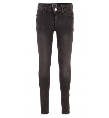 Indian blue jeans super skinny fit denim broek in de kleur donkergrijs