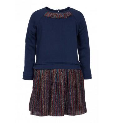 Le Big sweat jurk met glitters in de kleur donkerblauw