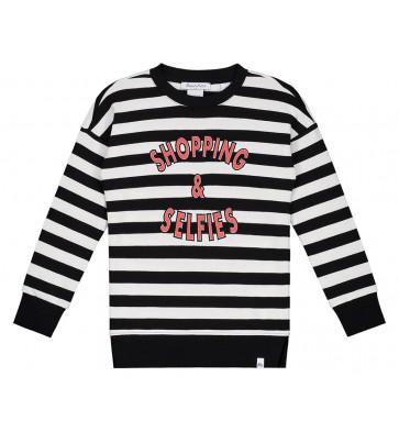 Trui Zwart Wit.Nik En Nik X Beautynezz Gestreepte Sweater Trui Shopping In De