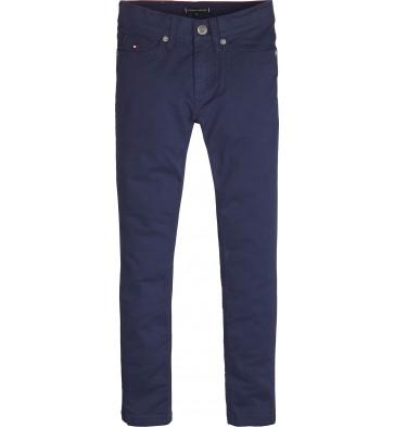 Tommy Hilfiger kids boys essential slim fit broek katoen in de kleur donkerblauw