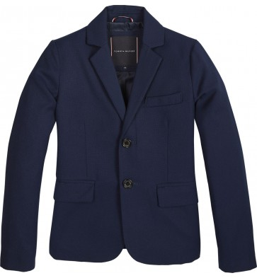 Tommy Hilfiger kids boys structured blazer in de kleur donkerblauw