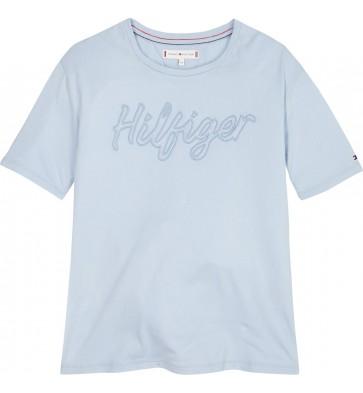 Tommy Hilfiger t-shirt met logo in de kleur lichtblauw