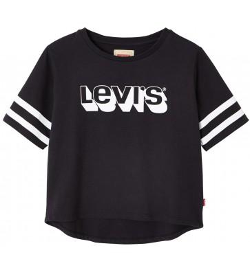 Levi's kids girls t-shirt met logo in de kleur zwart