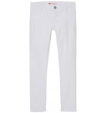 Levi's kids girls denim broek 710 super skinny fit in de kleur wit