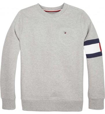 Tommy Hilfiger sweater trui flag sweatshirt in de kleur grijs