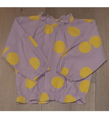 Smile Today blouse met gele stippen in de kleur lila