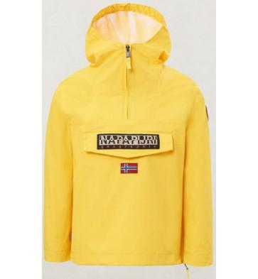 Napapijri kids rainforest summer jas in de kleur geel