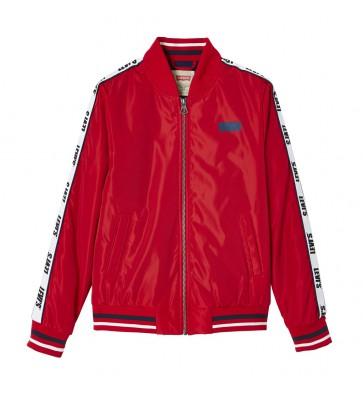 Levi's kids boys zomerjas met logo print bies in de kleur rood