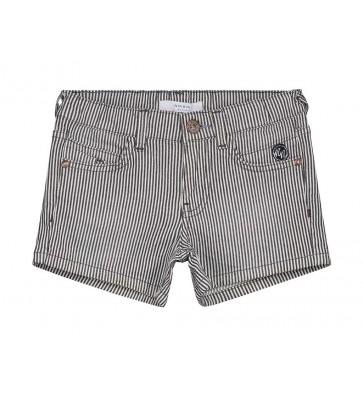 Nik en Nik girls korte broek Femke stripe in de kleur blue/white