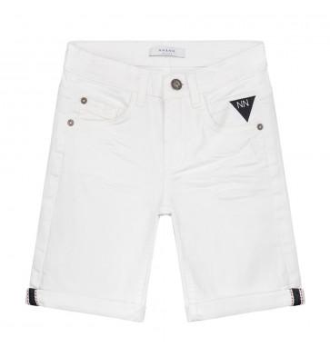 Nik en Nik korte broek ferdinand denim short korte broek in de kleur wit