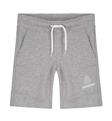 Nik en Nik sweat fip shorts in de kleur light grey melange grijs