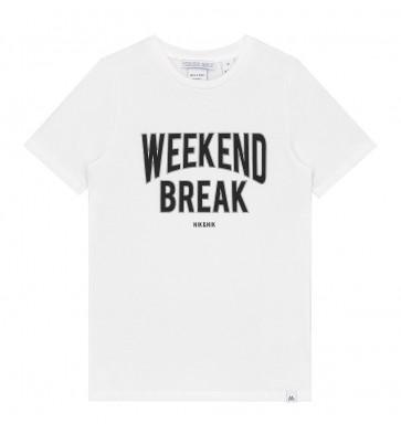 Nik en Nik weekend t-shirt weekend break in de kleur off white