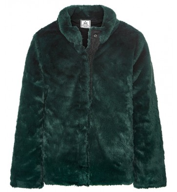 Retour Jeans Zaira fake fur winterjas in de kleur groen