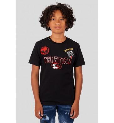 My Brand Junior t-shirt met patches in de kleur zwart