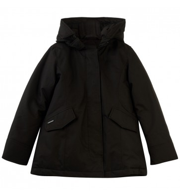 Airforce girls winterjas 2 pocket parkal in de kleur black zwart