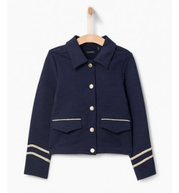 IKKS kids girls vestje met fleece binnenvoering in de kleur donkerblauw
