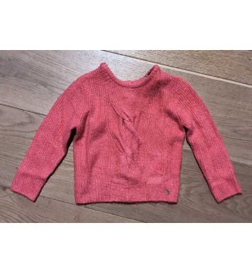 IKKS kids girls gebreide zachte trui vest in de kleur roze