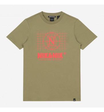 Nik en Nik boys t-shirt global forest in de kleur army green groen