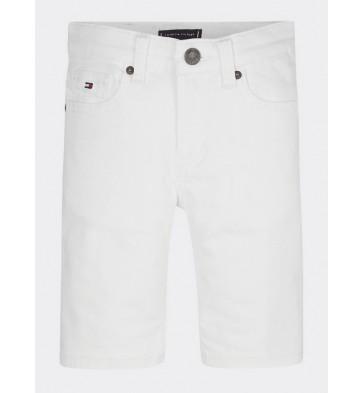 Tommy Hilfiger kids boys korte spijkerbroek scanton in de kleur wit