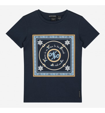 Nik en Nik kids girls No risk t-shirt in de kleur donkerblauw