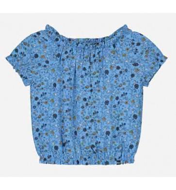 Nik en Nik kids girls Bracha top met bloemen print in de kleur fresh blue
