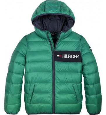 Tommy Hilfiger kids boys essential padded jacket winterjas in de kleur groen