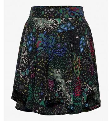 Zadig en Voltaire girls viscose rok met all over print in de kleur multicolor