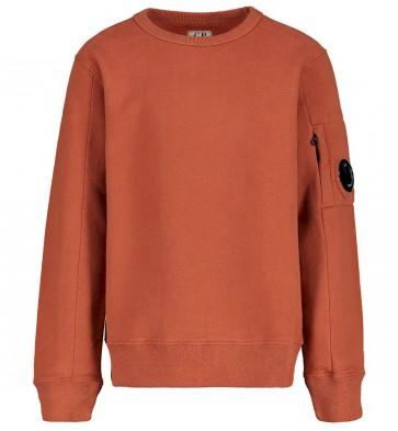 CP Company undersixteen kids sweater trui met lens in de kleur roestbruin