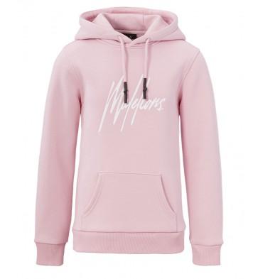 Malelions kids junior hoodie signature sweater trui in de kleur zachtroze