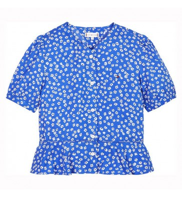 Tommy Hilfiger kids girls Ditsy flower print blouse in de kleur kobalt blauw