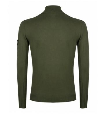 Rellix kids boys fijngebreide viscose trui met col in de kleur army green