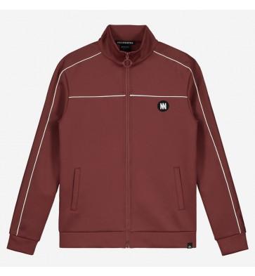Nik en Nik boys track jacket Murry trackjacket in de kleur mid red bordeaux rood