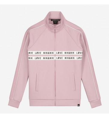 Nik en Nik kids girls vest paige track jacket in de kleur dusty pink zachtroze
