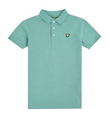 Lyle and scott junior kids polo shirt in de kleur zachtgroen