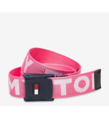 Tommy Hilfiger kids girls canvas riem belt in de kleur roze
