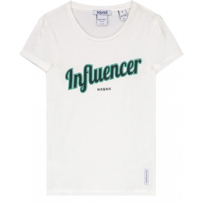 7cf5edaab10 NIK en NIK t-shirt 'Influencer' in de kleur wit | Studio Kwetters