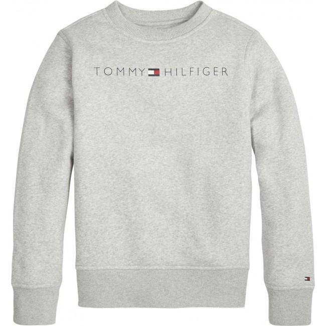 Trui Met Print.Tommy Hilfiger Kids Sweater Trui Met Logo Print In De Kleur Grey
