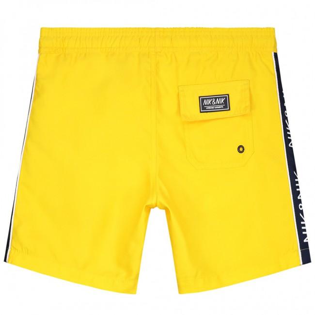 Zwembroek Geel.Nik En Nik Yuri Swimshort Zwembroek Met Logo Bies In De Kleur Bright
