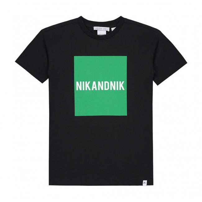 89179bc7374 Nik en Nik marten t-shirt met logo print in de kleur groen/zwart ...