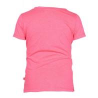 Le Big shirt met all over print in de kleur fel roze