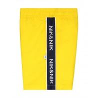 Nik en Nik Yuri swimshort zwembroek met logo bies in de kleur bright yellow geel