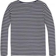 Tommy Hilfiger girls gestreepte rib trui in de kleur donkerblauw en wit