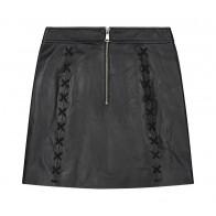 Nik en Nik girls lamsleren Isabel skirt in de kleur zwart