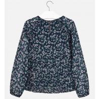 Mayoral kids meisjes blouse met fijne bloemen print in de kleur blauw/groen